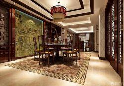 中式風格房子浮雕背景墻裝修效果圖