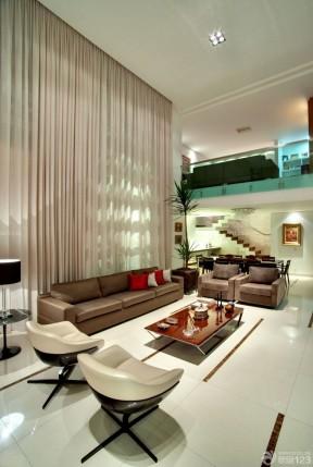 80復式樓裝修效果圖 挑高客廳裝修效果圖