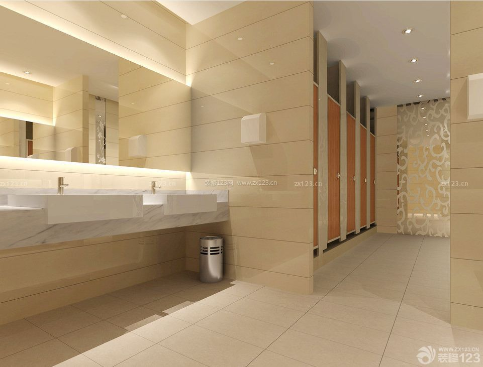 宾馆室内公共卫生间装修效果图片