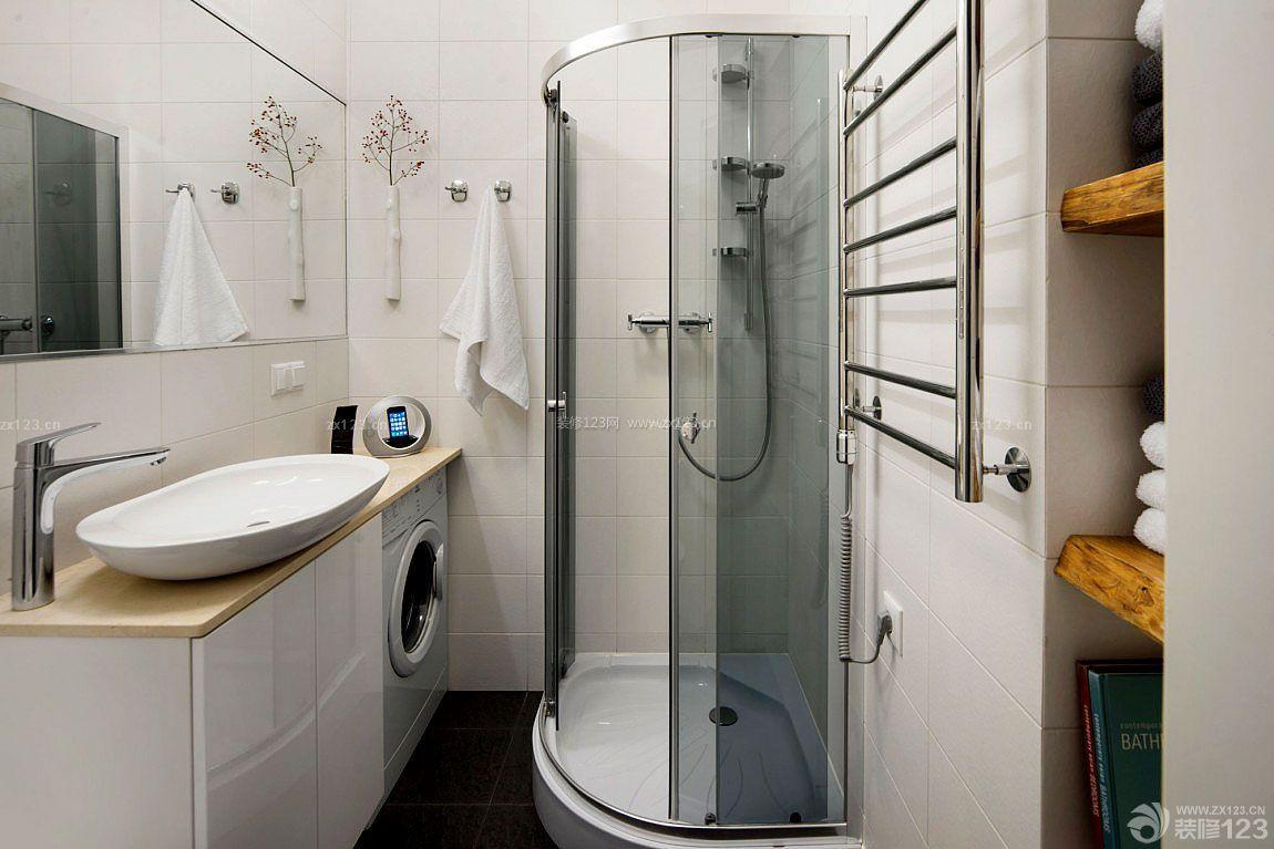 现代简约小户型室内小浴室装修图片_装修123效果图图片