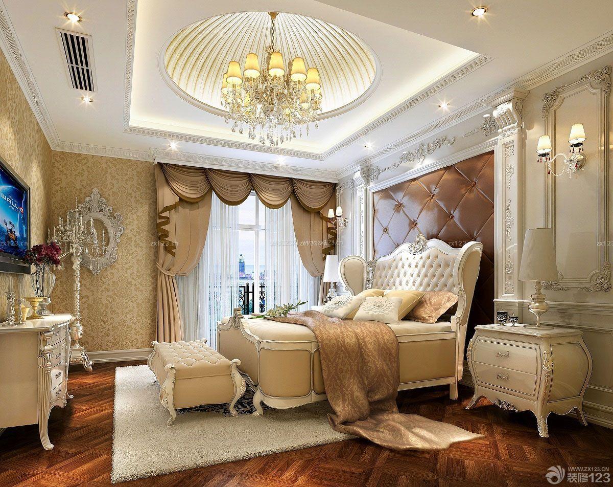 欧式宫廷风格高档卧室室内装修图片