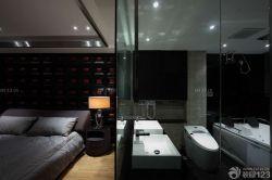 黑白室內臥室裝潢設計
