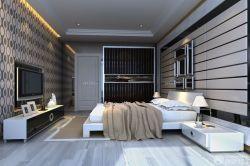 黑白室內裝潢床頭背景墻裝修效果圖片