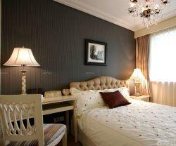 黑白室內臥室床頭背景墻裝潢設計圖