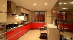 金牌整體廚房 紅色櫥柜裝修效果圖片