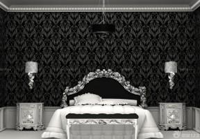 黑白室內裝潢 臥室床頭背景墻