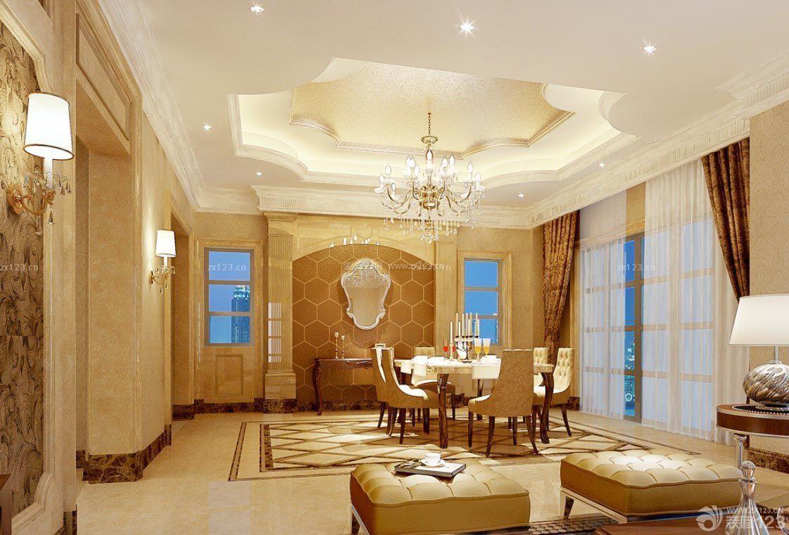创意室内装修效果图大全餐厅吊顶造型设计