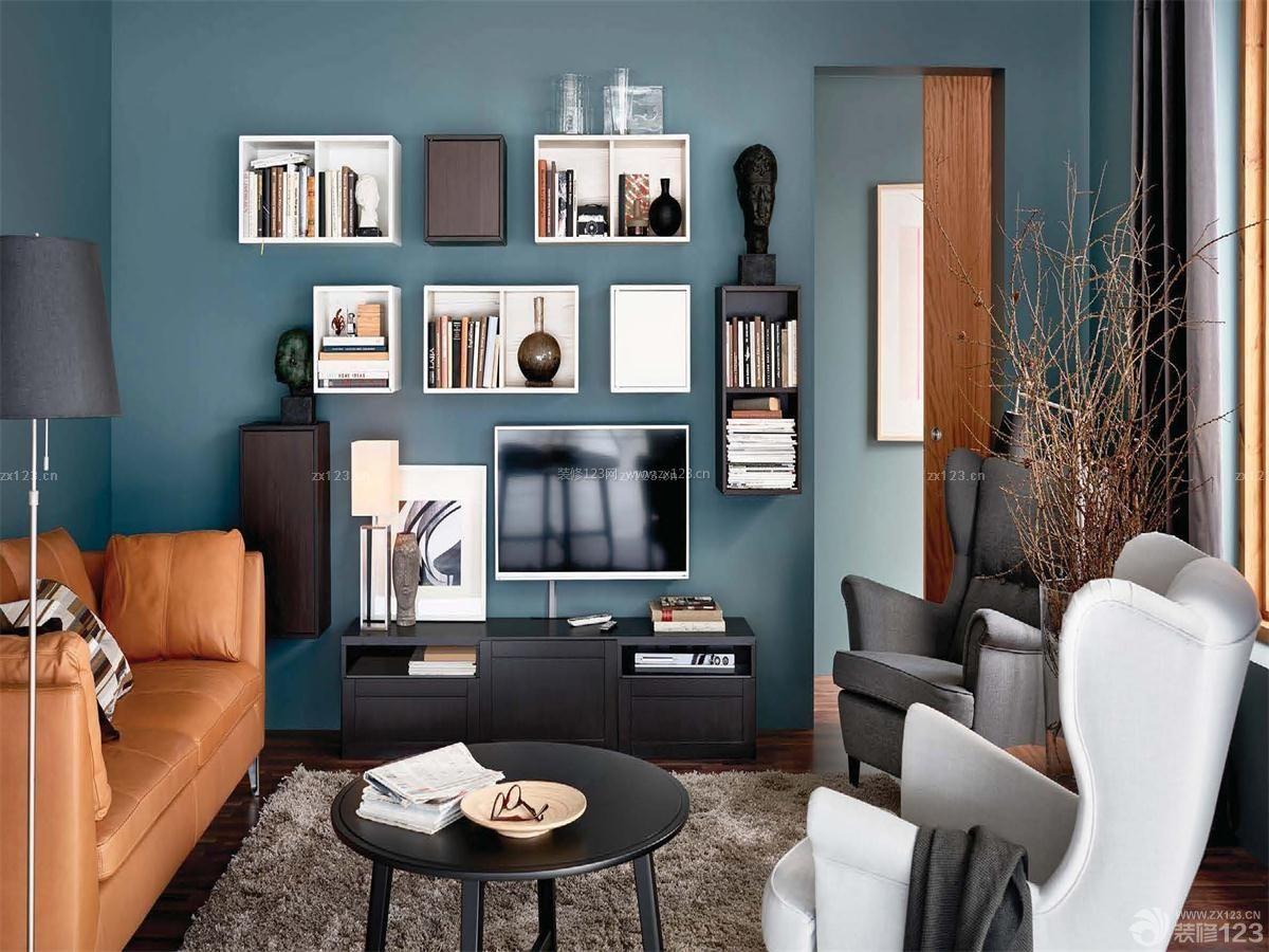 四室客厅创意展示架设计装修效果图图片
