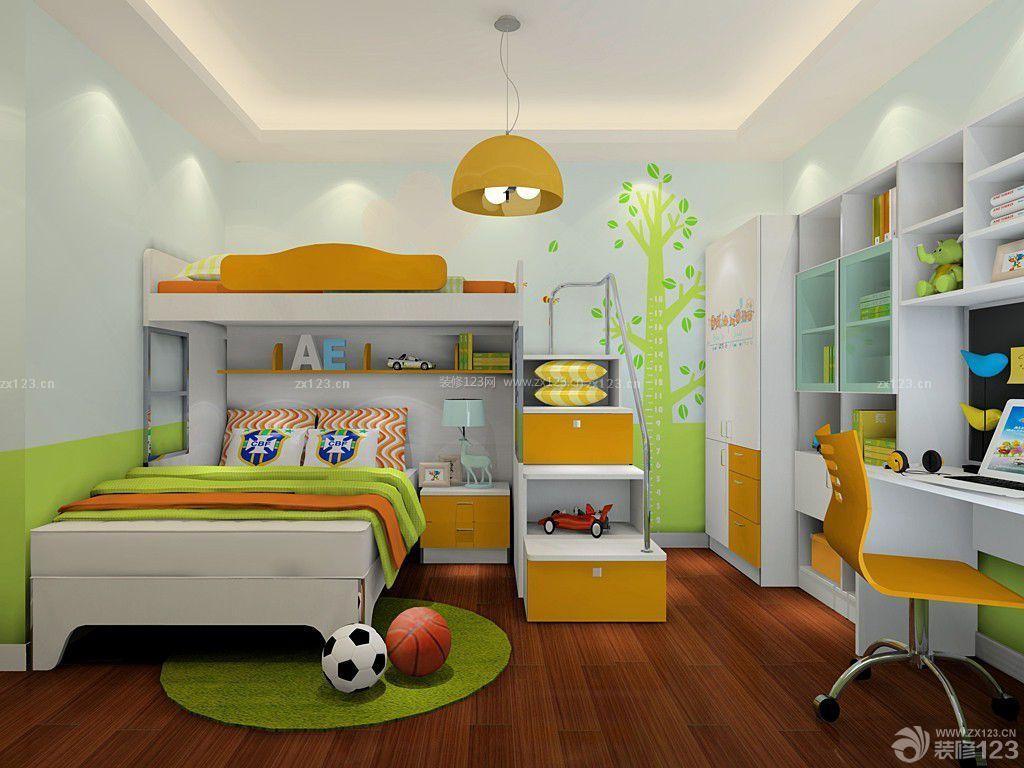 简约儿童房室内简单墙绘装修效果图大全