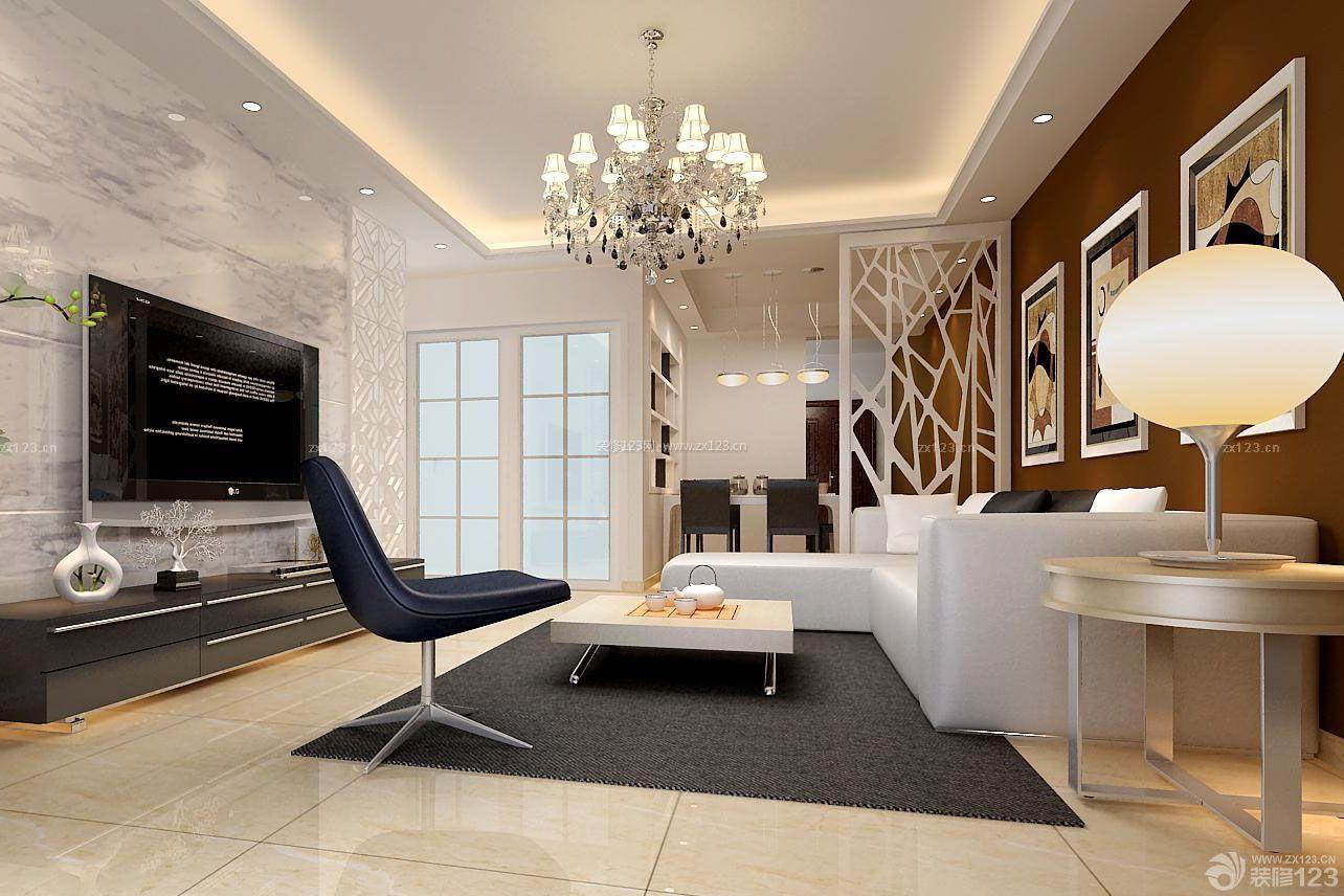 现代风格三室一厅客厅装修效果图大全2015图片