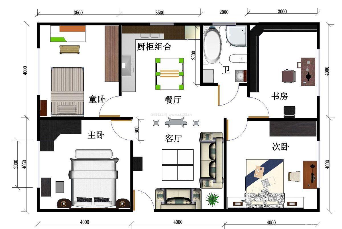 80平米房子装修设计图