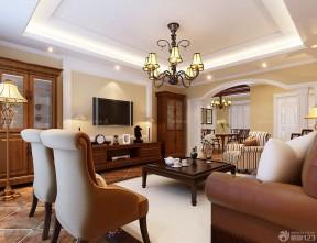 80平米房子裝修設計圖 美式客廳裝修效果圖大全2014圖