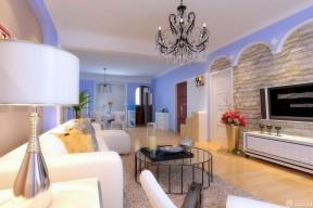80平米房子裝修設計圖 仿古磚客廳裝修效果圖