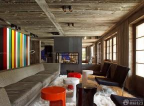 四室客廳裝修效果圖 生態木吊頂效果圖