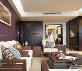 90平小三房家裝效果圖 中式客廳家具擺放