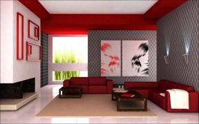 80平米房子裝修設計圖 客廳裝飾畫圖片