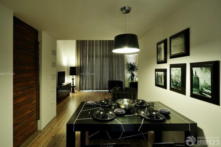 简单的黑白装饰画,简单的吊灯,都是前卫loft的特点.