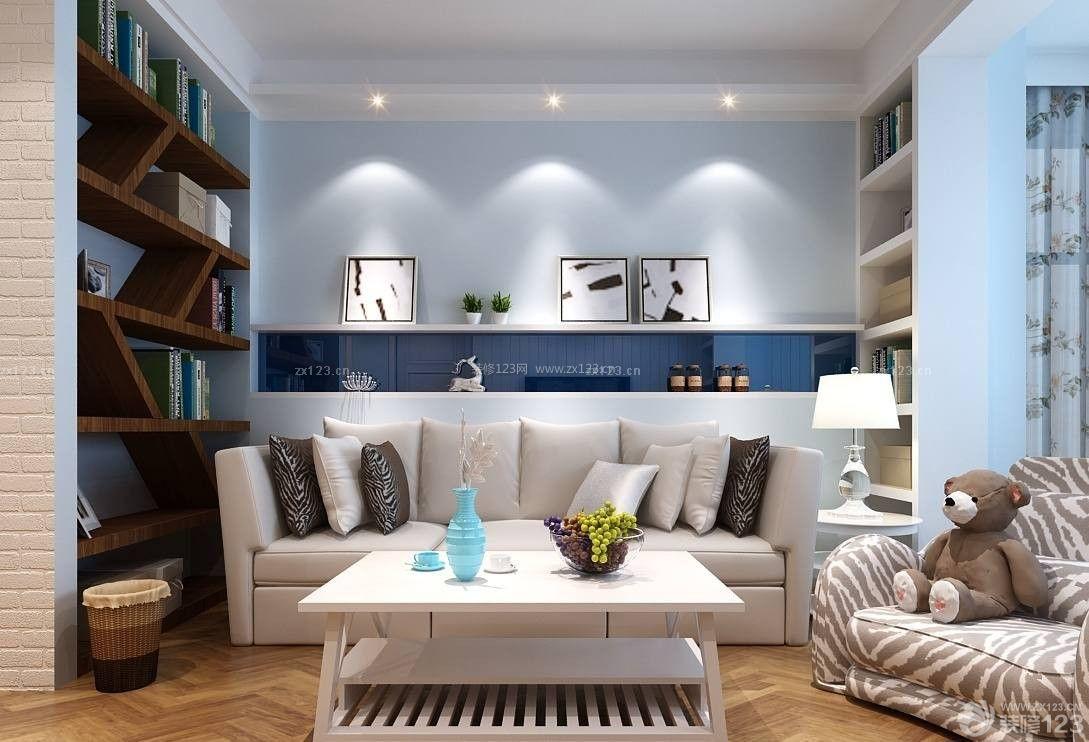 地中海风格室内墙面书架设计装修图片效果图图片