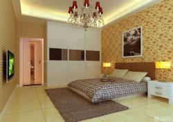 三室兩廳臥室壁紙裝修設計效果圖