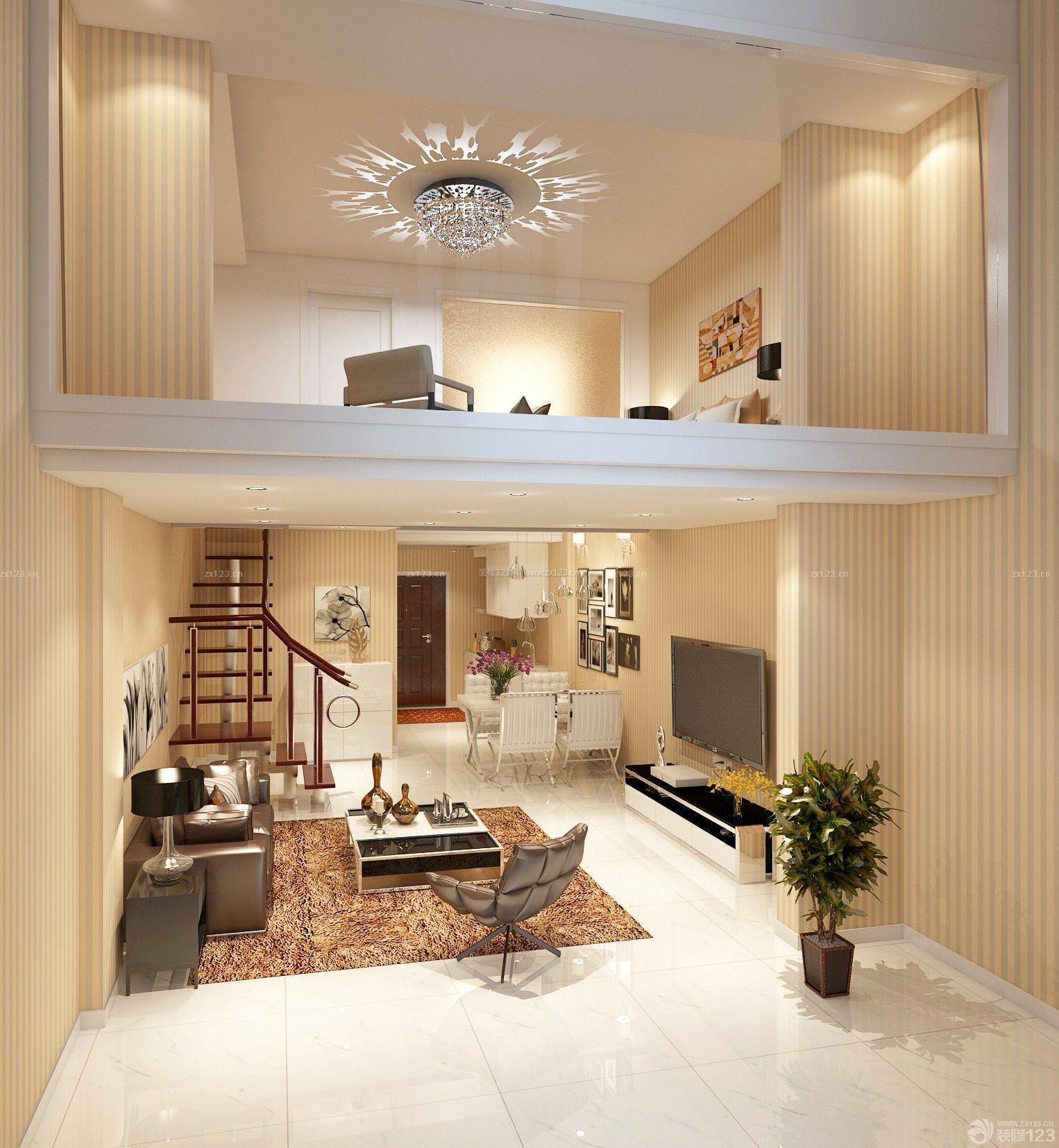 现代复式80平米带阁楼装修效果图图片