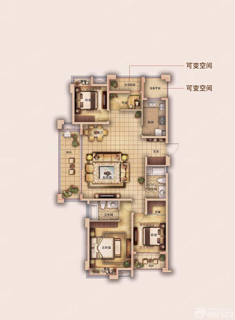 农村自建房四室两厅设计图展示