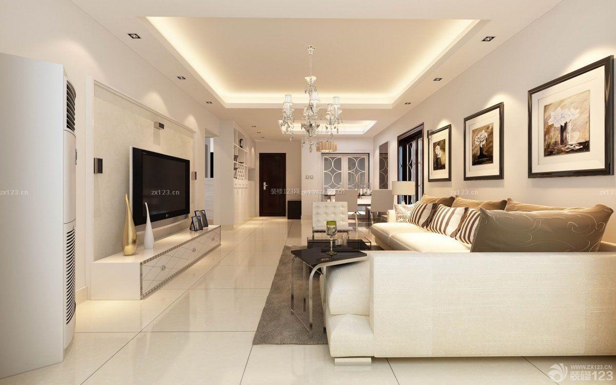 精致四室二厅白色地砖装修效果图