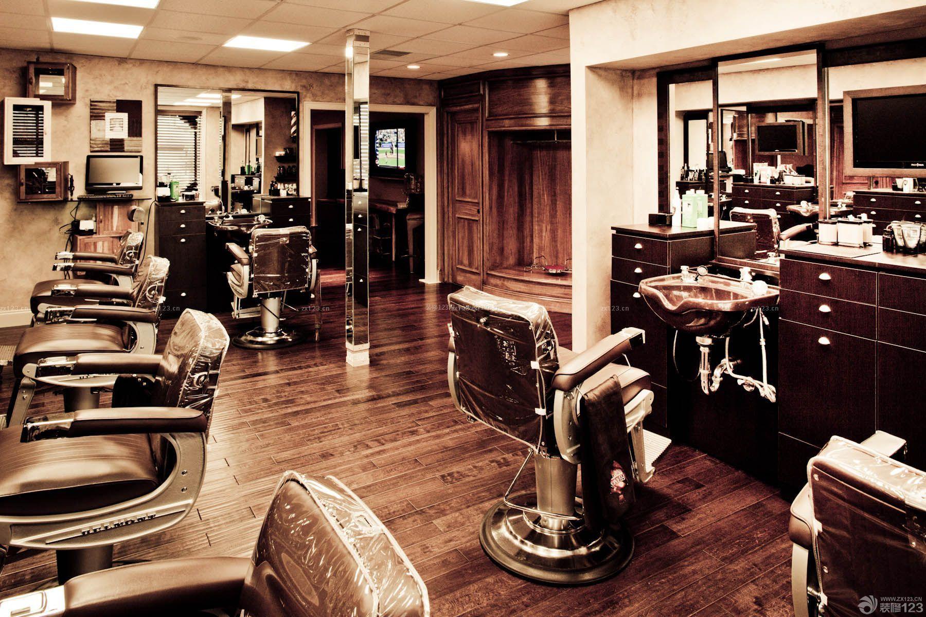 欧式古典风格80平方美发店装修效果图图片