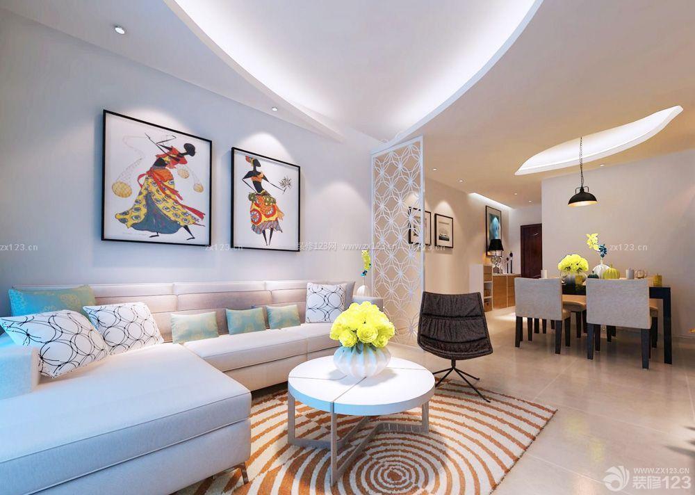 现代家庭室内客厅装饰画装潢图片图片