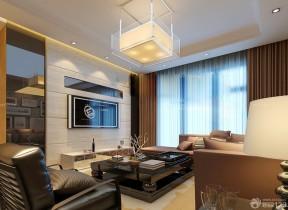 家庭室內裝潢 客廳窗簾圖片