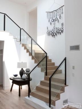 现代风格家装90平米复式楼楼梯装修图片图片