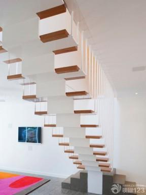 现代简约家装90平米复式楼装修效果图图片