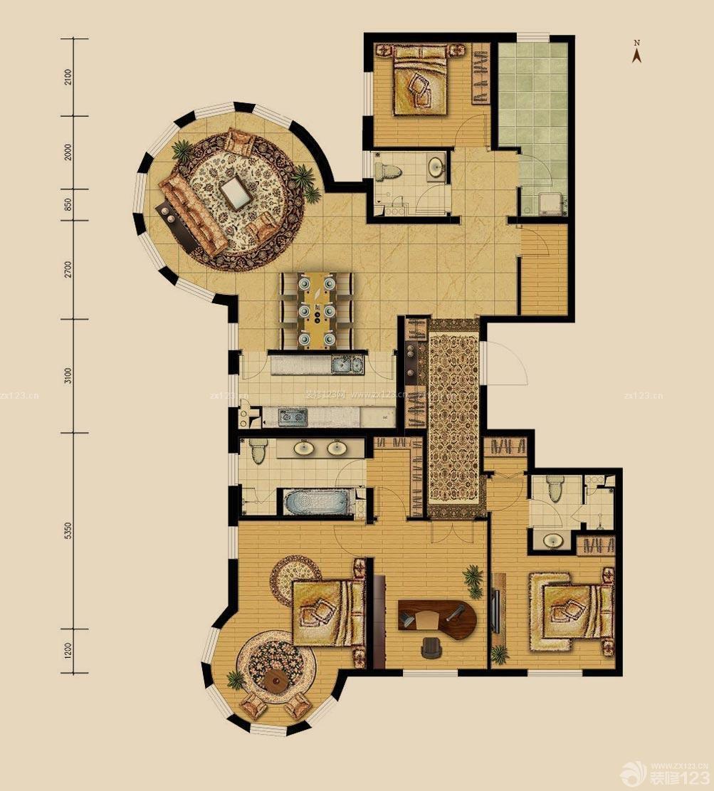 最新房屋设计图三室一厅户型