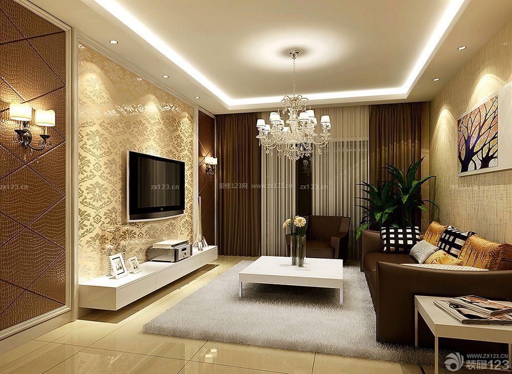 三房欧式风格客厅装饰装修样板房图片