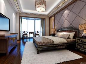 中式簡約裝修風格 中式床裝修效果圖片