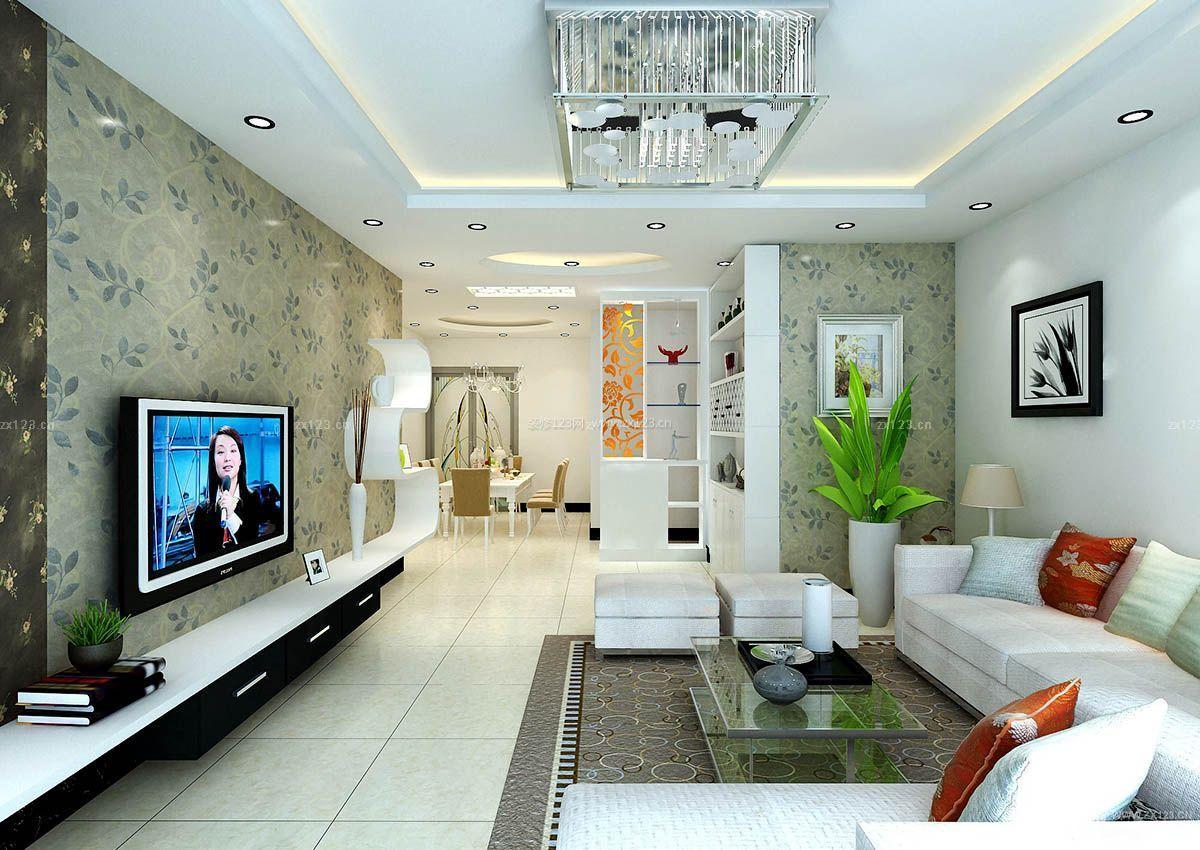 两室两厅房屋装修效果图墙面壁纸装修效果图片