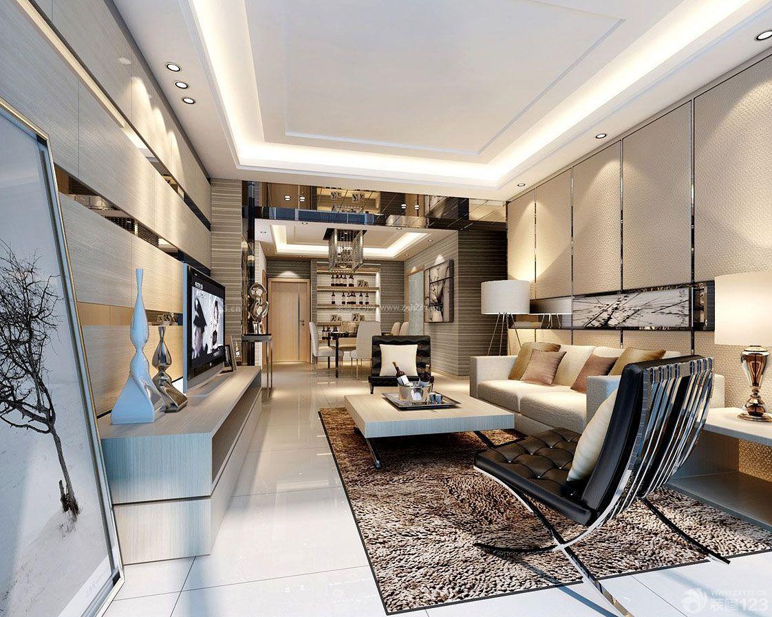 两室两厅欧式家居房屋客厅装修效果图