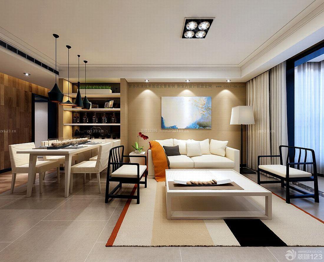 简约欧式风格两室两厅房屋客厅装修效果图
