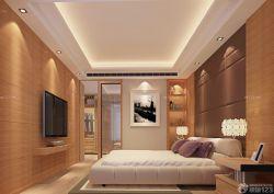 90平兩室兩廳臥室臺燈裝修案例圖片