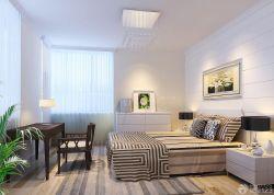 90平兩室兩廳臥室裝飾畫裝修案例