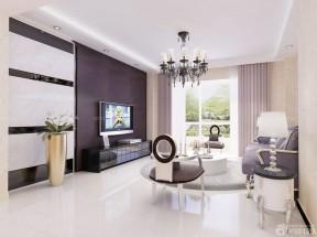 90平兩室兩廳裝修案例 客廳窗簾圖片