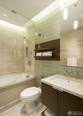 90平兩室兩廳裝修案例 浴室柜裝修效果圖片