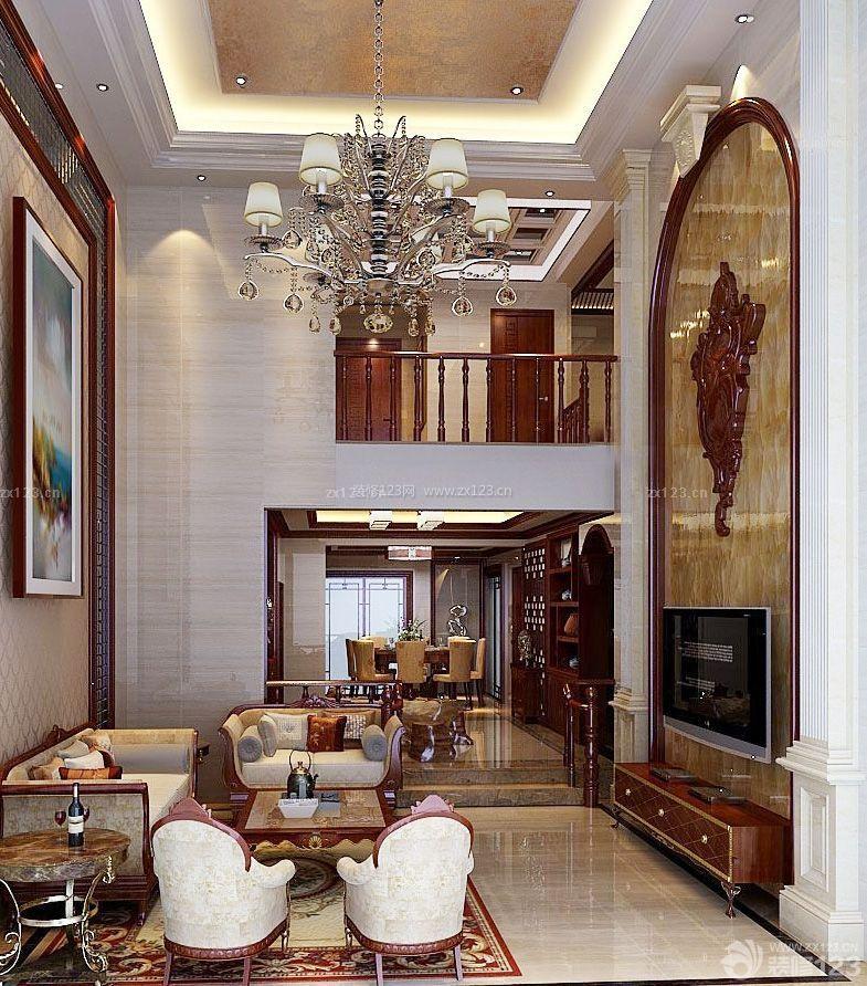 时尚复式房屋深灰色木地板设计图_装修123效果图