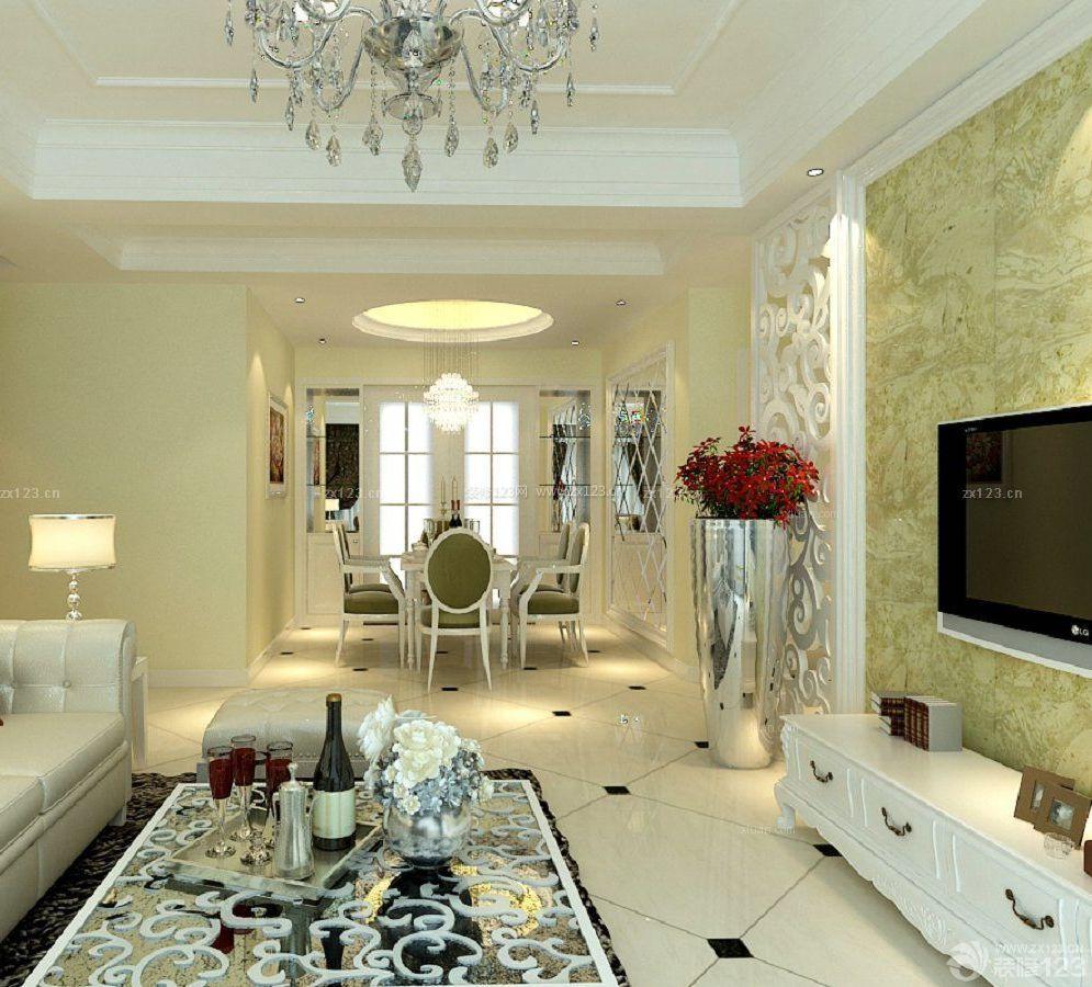 简欧式风格90平方米房子室内装修效果图