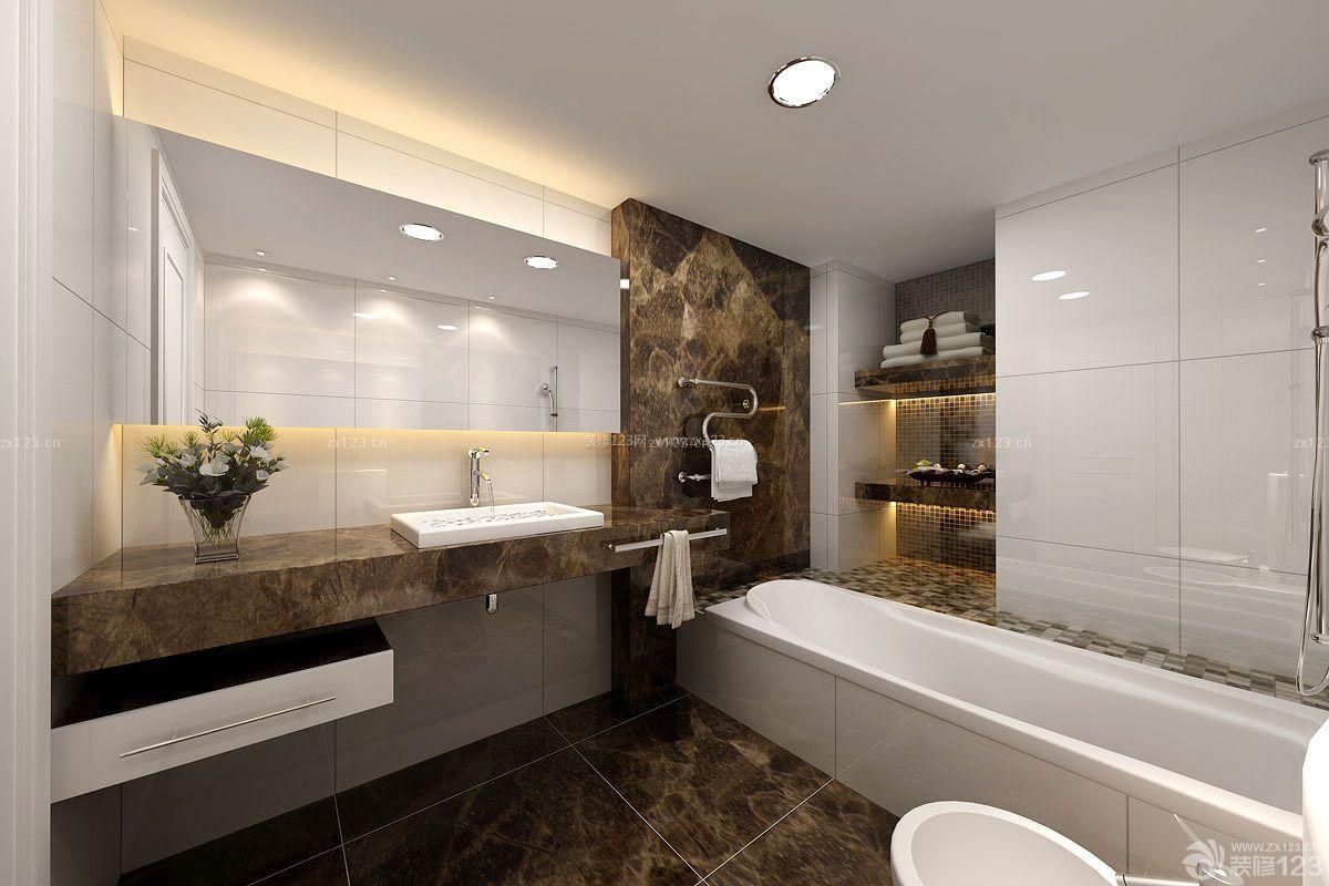 欧式两室两厅卫生间浴室装修设计图