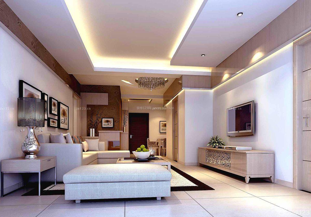北欧简约风格两居室房屋客厅装修效果图