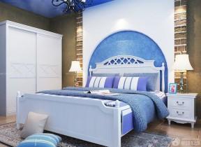 90平方裝修效果圖 雙人床裝修效果圖片
