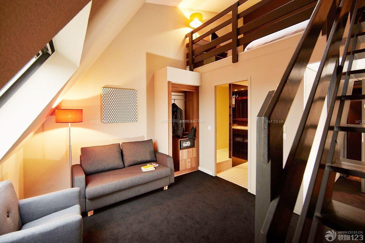 紧凑小户型复式客厅装修效果图欣赏图片