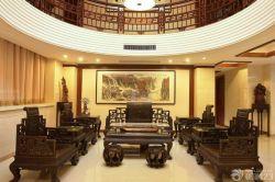 中式風格復式樓客廳裝修效果圖