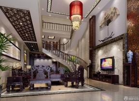 現代復式樓裝修效果圖 樓梯設計裝修效果圖片