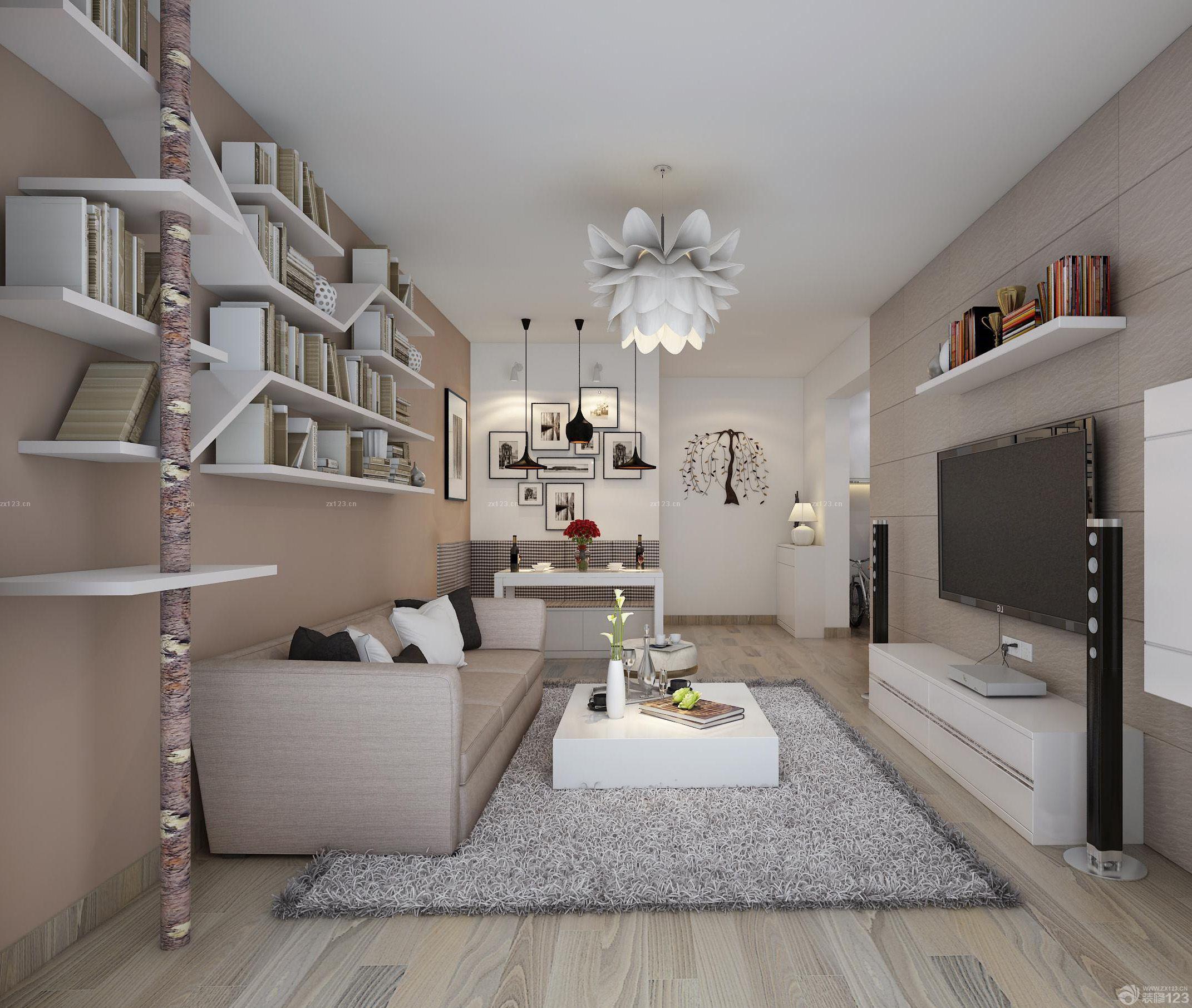 90平米客厅时尚电视背景墙家居装修效果图